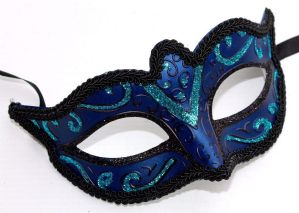 Blue and Turquoise Masquerade Mask - Sparkling Mask | Masks and Tiaras